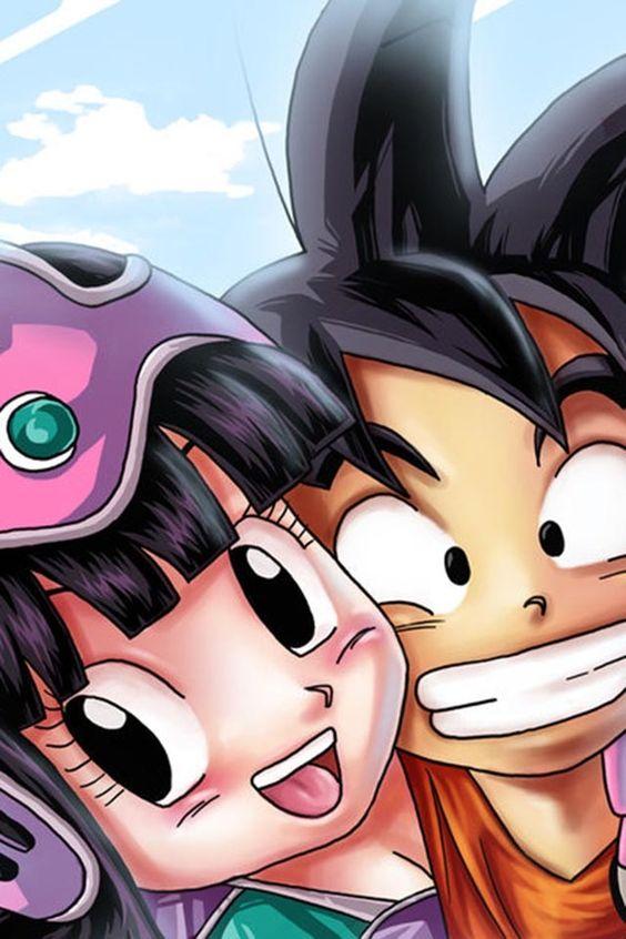 Goku & chi chi how cute!!