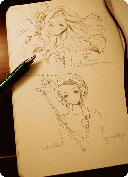 Gorgeous flowing drawings. ♥