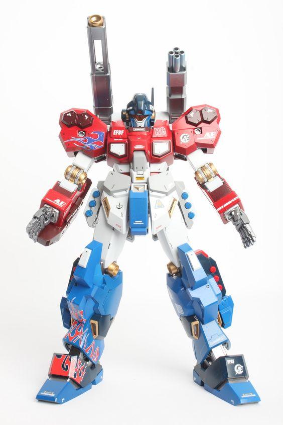 GUNDAM GUY: MG 1/100 Jesta Cannon [Optimus Prime] - Painted Build