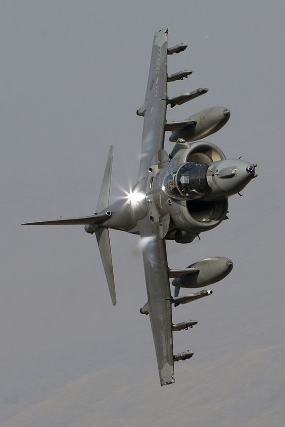 Had the honour of being on the RAF Harrier Force in RAFG. This is an awesome image of a GR9. RAF Harrier GR9
