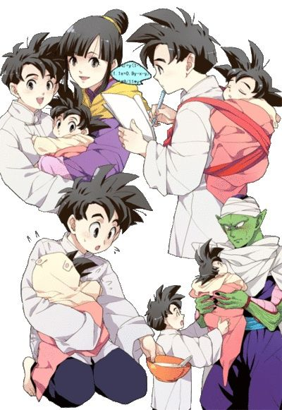 Haha, I can totally see Piccolo helping out with baby Goten while Goku was out.