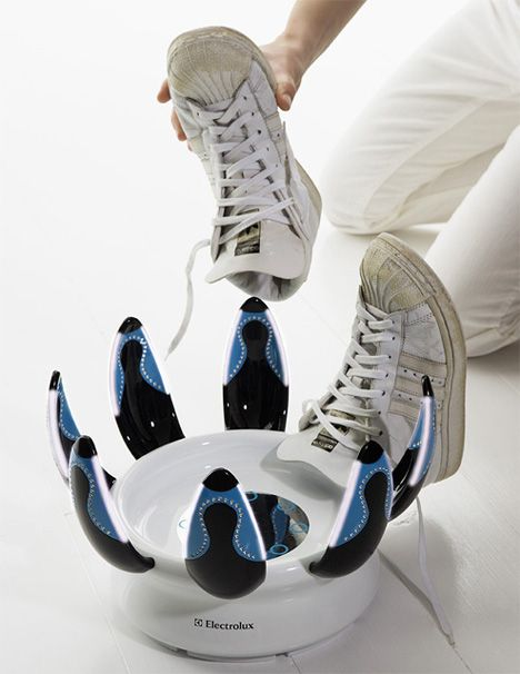 Happy Feet is a solution for cleaning and sanitizing shoes.