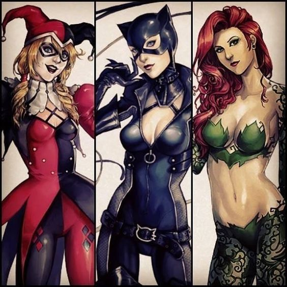 Harley, Catwoman and Poison Ivy