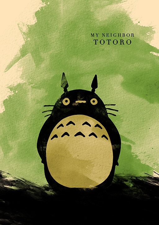 Hayao Miyazaki Minimalist Movie Poster Set  My by moonposter, $