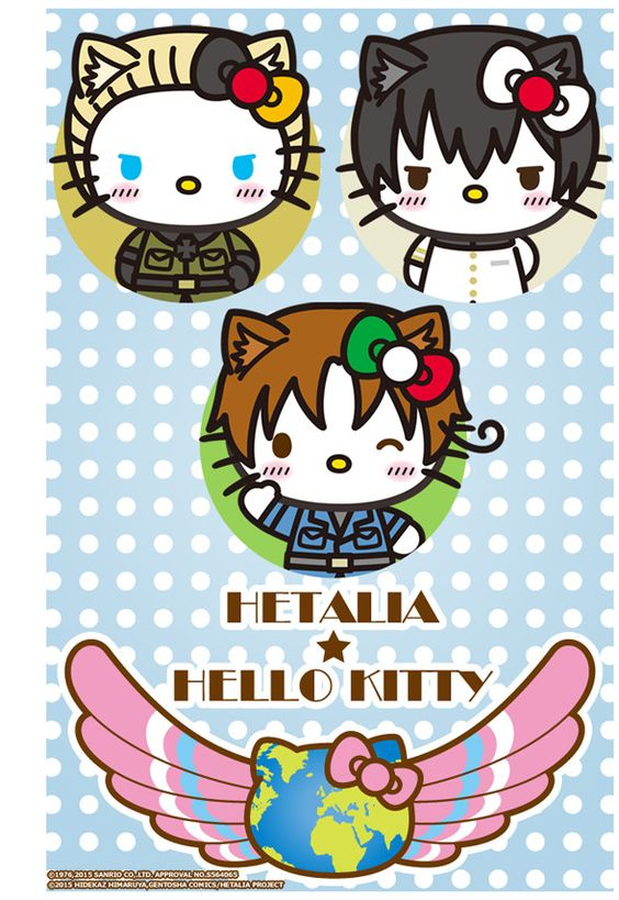Hello Kitty Impersonates Axis Powers in Hetalia Crossover - Interest - Anime News Network