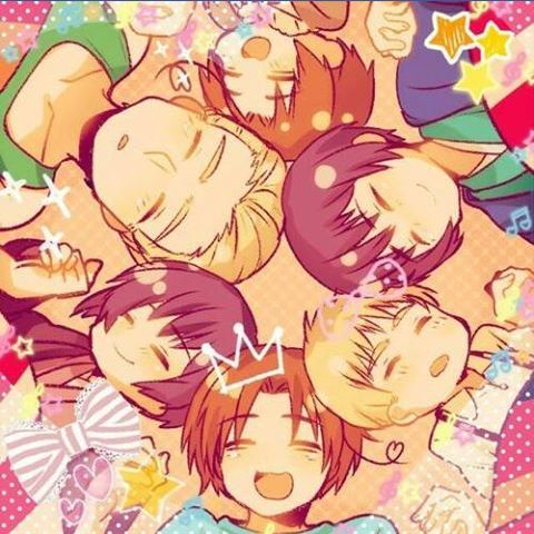 Hetalia axis powers with there little self's