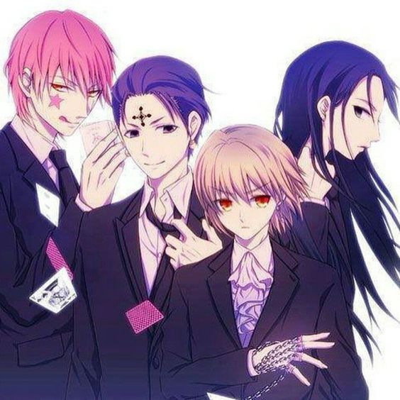 Hisoka, Chrollo, Kurapika, Illumi