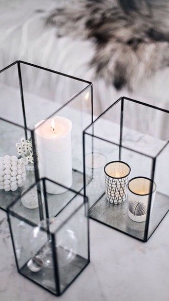 home accessory candle classy transparent minimalist