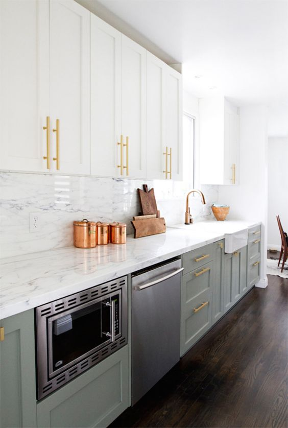 Home decor - adding character to your kitchen with some kitchen accessories like these brass containers #homedecor #kitchen