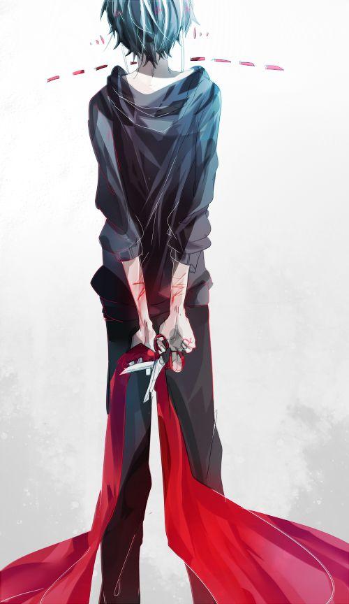 horror anime boy