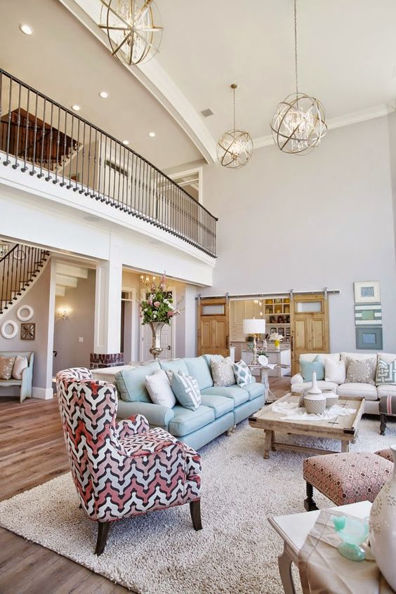 House of Turquoise: Dream Home Tour - Day OnePaint Info Entry, Family Room, Stairs – Sherwin-Williams