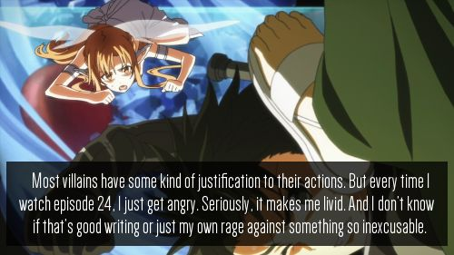 HOW COULD IT NOT MAKE YOU ANGRY?! SERIOUSLY. I. HATE. HIM. I felt SO bad for Asuna.  ugh. Not okay.