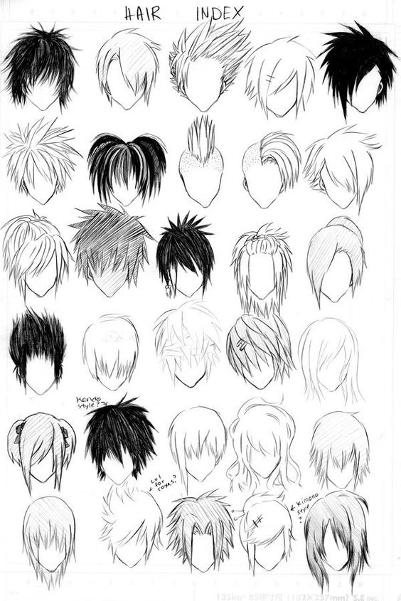 How to draw manga hair most of these hairstyles could be guy hairstyles then again u dont know a girl can have short hair