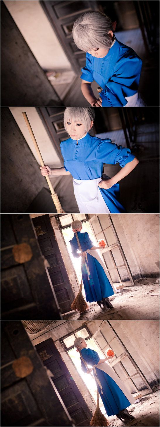 Howl's Moving Castle-A cleaning woman by Sakina666 on deviantART