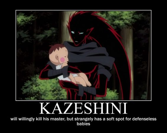 I love Kazeshini! He may be a totally insane, mentally unstable, murder-rampaging  but he's awesome!!