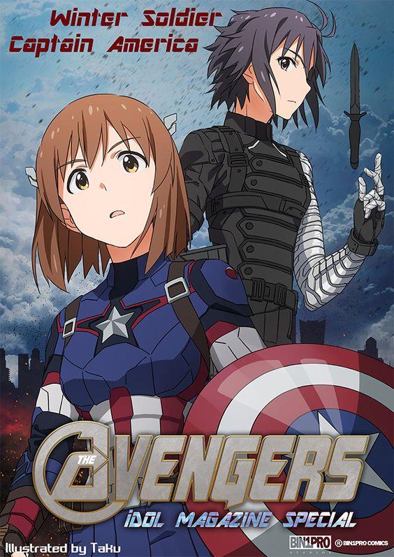 Idolmaster x Avengers, Yukiho & Makoto, by たく(taku)