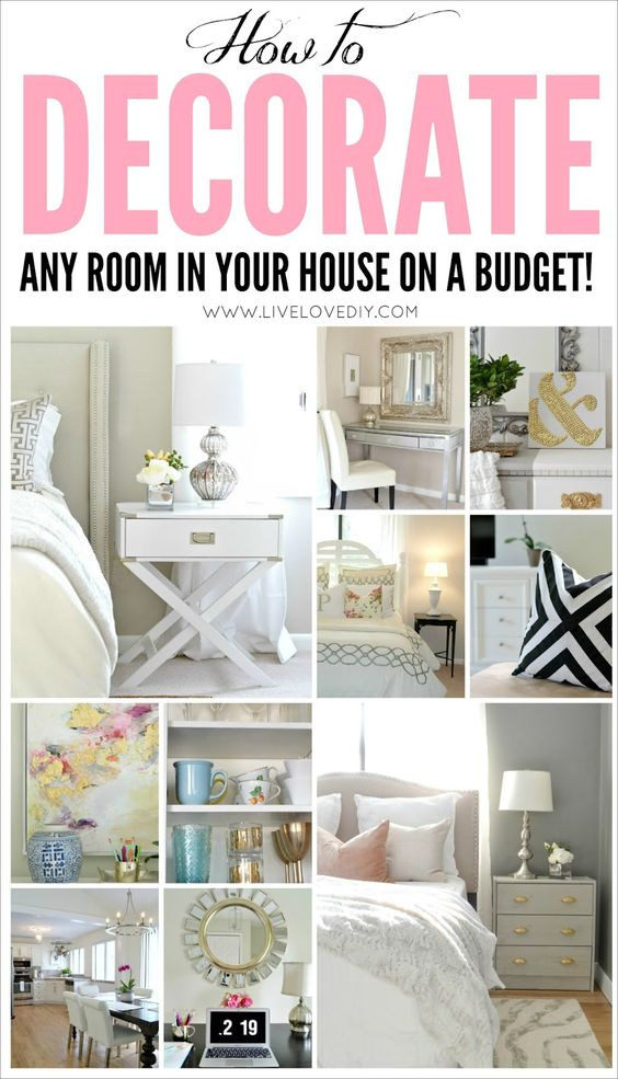 If you've ever been stuck in an outdated house and didn't have the money to renovate, this blog is a GREAT resource to help you make the MOST of what you already have! Tons of DIY and budget decorating ideas for even the tiniest budgets! A MUST PIN!