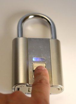 iFingerLock Fingerprint Biometric Padlock.