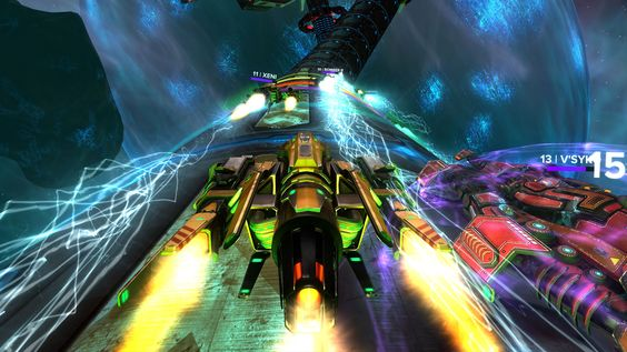 In Radial-G, you race in the cockpit of a futuristic race craft on an anti-gravity track, which features twists, jumps, splits, and inverted racing. The game also features a multi-player mode, which means that you and your friends can either race against each other in space or puke together in perfect harmony. Hey, it's all until you get your VR legs, right?