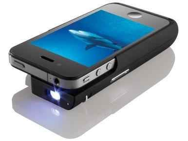 iPhone Case with Built-In Projector, $230