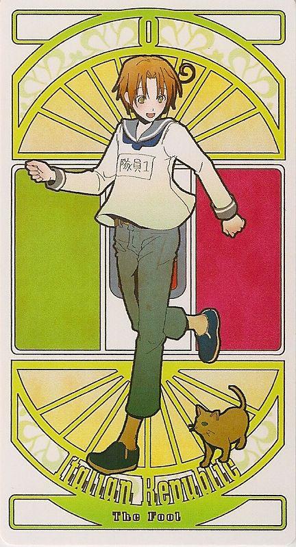 Italy   Hetalia Tarot Card