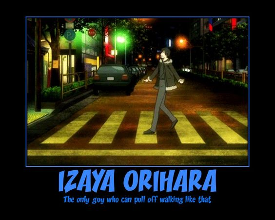 Izaya Orihara Motivational Poster by OnyxMoonlight