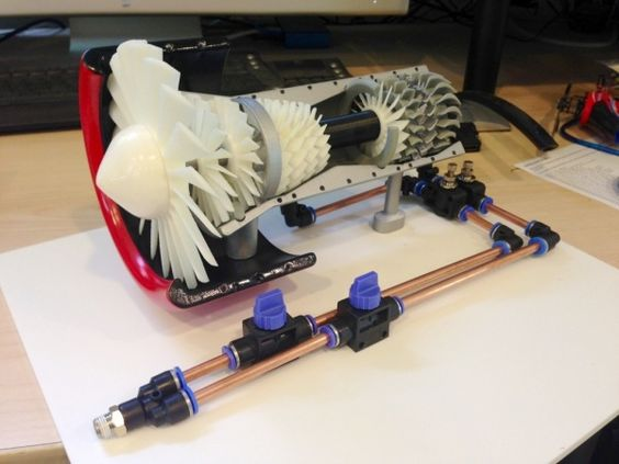 Jet Engine made on a 3D Printer