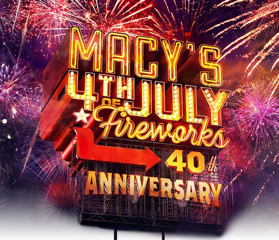 Join Macy's in celebration of our 40th anniversary 4th of July fireworks show in NYC or watch on NBC. Be on the lookout for this years musical performers and check out last years highlights!