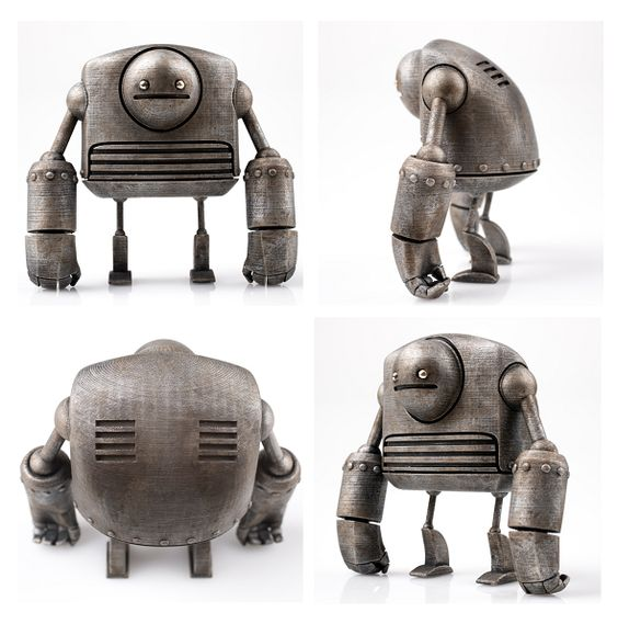 Just Robots by Onorio and Scott: The Most Adorable 3D Printed Robots Ever! -
