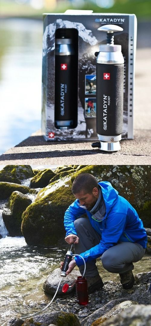 Katadyn Pocket Water Filter. Pocket water filter designed for outdoor enthusiasts and international travelers.