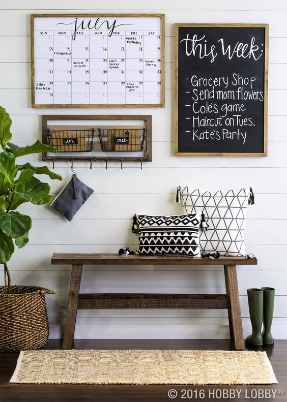 Keep your family organized & up-to-date with an on-trend command center.