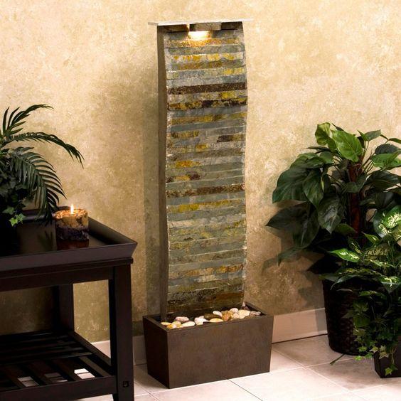 Kenroy Curvature Indoor/Outdoor Floor Water Fountain