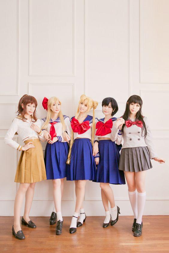 Kino Makoto, Aino Minako, Tsukino Usagi, Mizuno Ami & Hino Rei