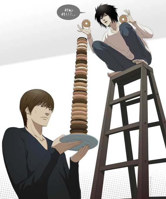 L and Light (from DeathNote)