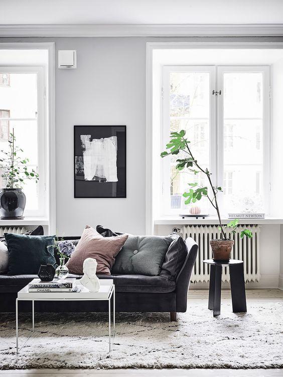 Lägenhet till salu bohemisk inredning med moderna inredningsdetaljer från Entrance mäkleri