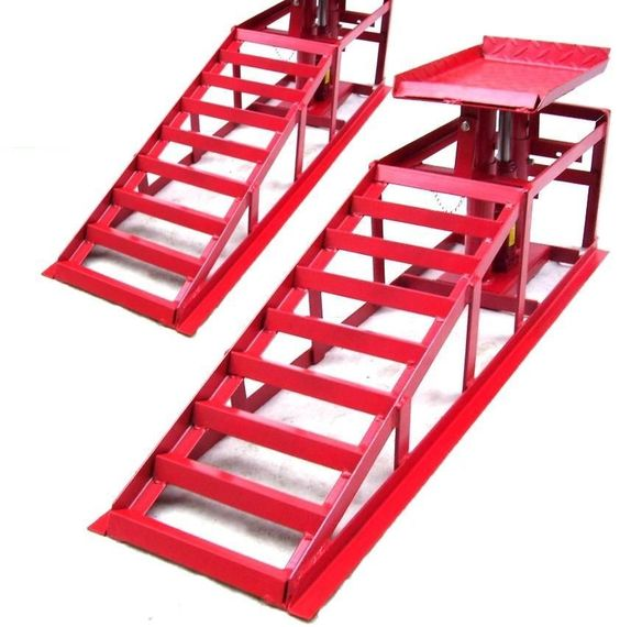 Lifting Car Ramp Jack 2t 2 Heights Hydraulic Adjustable Pair Car Maintenance Ram   eBay