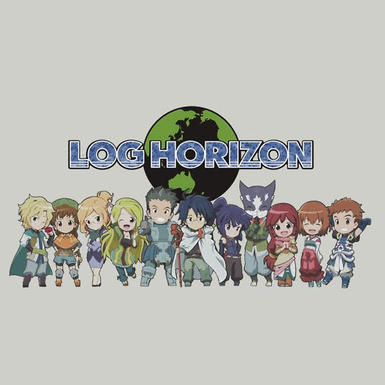 Log Horizon is one of my favorite animes. It's about players being trapped in an MMO world and their adventures.