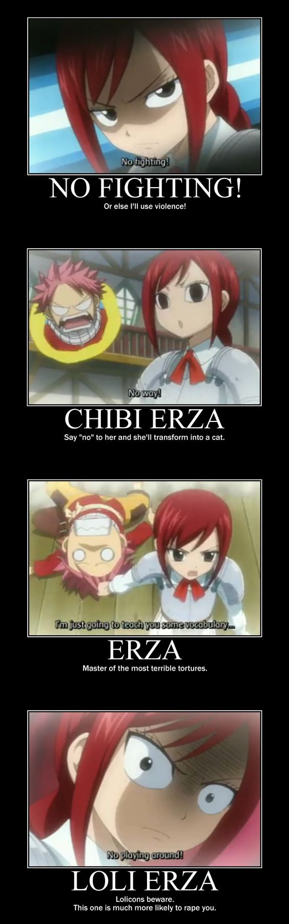 lol Erza there being so mean to u