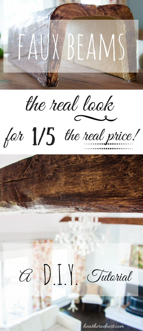 LOVE the look of beams but don't have the budget?? FAUX BEAMS are the answer!! 100% the look for a FRACTION of the cost! We'll show you how to use & install  OVER NOW to the Heathered Nest!!