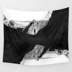 Man of isolation Wall Tapestry