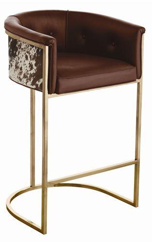 Metal frame bar stool