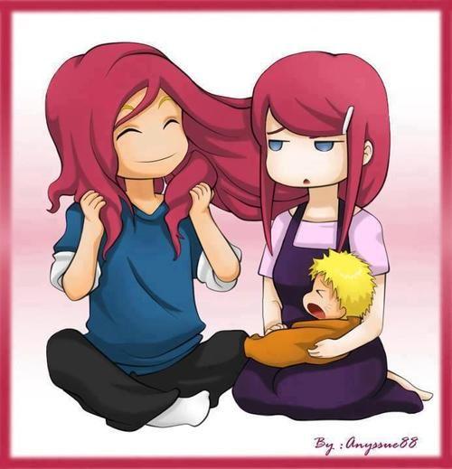 Minato, Kushina and Naruto, this is just too cute haha