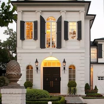 Modern French Home Exterior, French, home exterior, Michael J. Siller Interiors