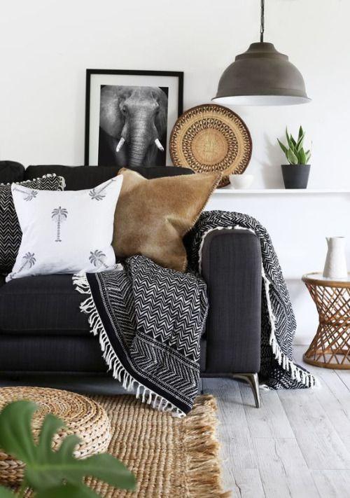 Mudcloth cushions