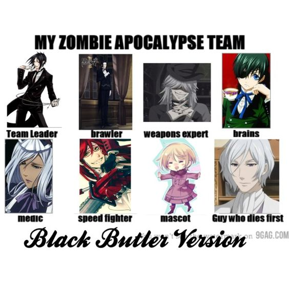 My Zombie Apocalypse Team Black Butler Version