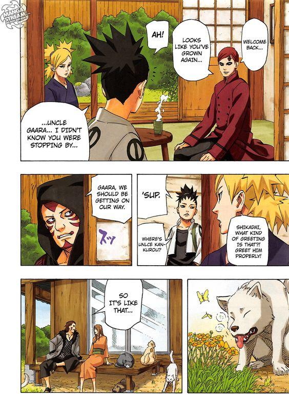 Naruto 700 - Page 9 - Manga Stream I am a happy camper because Shikamaru and Temari had a kid! Shikatema!