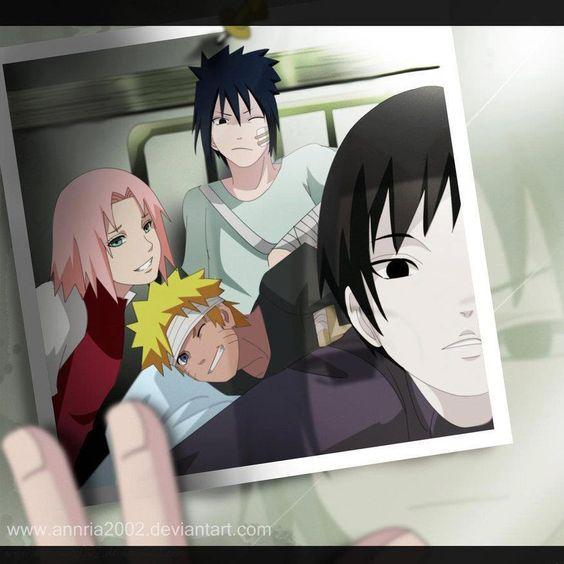 ♥ Naruto, Sakura & Sasuke (Team Kakashi / Team 7) with Sai - by annria2002, DeviantArt