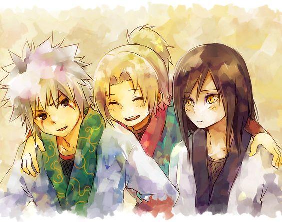 Naruto - Young Sannin by banafria