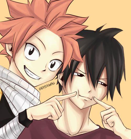 Natsu and Zeref.