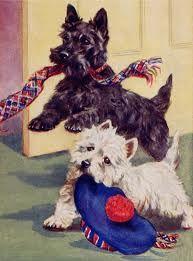 neato! Cute Westie and Scottie.